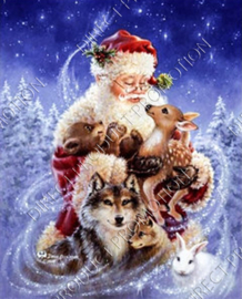 "Diamond painting ""Santa with animals"""