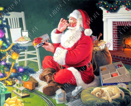"Diamond painting ""Santa Claus with gifts"""