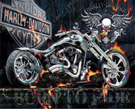 "Diamond painting ""Motorcycle Harley Davidson"""