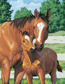 "Diamond painting ""Horse with foal"""