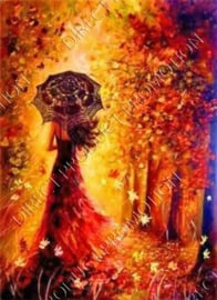 """Diamond painting """"Woman in the fall"""""""