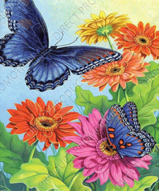 "Diamond painting ""Two butterflies with flowers"""