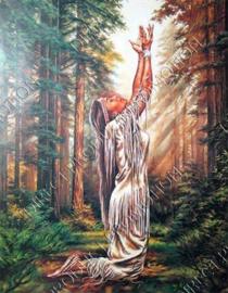 """Diamond painting """"Praying Indians girl"""""""