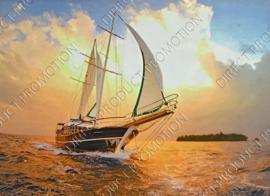 """Diamond Painting """"Sailing ship"""""""