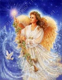 "Diamond painting ""Angel with candle"""