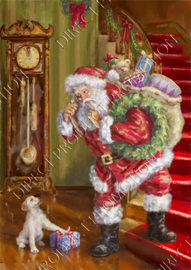 "Diamond painting ""Santa Claus and puppy"""