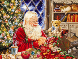 "Diamond painting ""Santa makes gifts"""