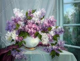 """Diamond painting """"Flowers in vase"""""""