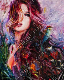 "Diamond painting ""Painted woman"""