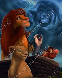 "Diamond painting ""Simba the lion king"""