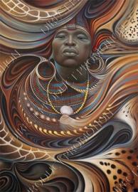 "Diamond painting ""Ethiopian man"""