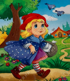 "Diamond painting ""Little Red Riding Hood"""