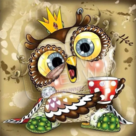 "Diamond painting ""Owl with crown"""