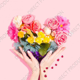 "Diamond painting ""Flowers heart"""