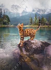 "Diamond painting ""Bengal cat"""