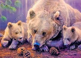 """Diamond painting """"Bears"""""""