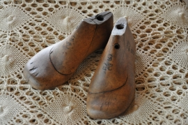 set houten schoenmallen klein maatje