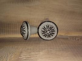 Vintage knop grijs VK3G