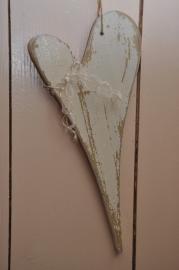 Mooie brocante houten hart