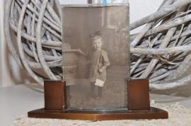 Fotolijstje met bol glas