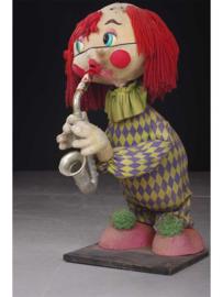 Mechanische clown met saxofoon, 2e helft 20e eeuw.