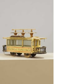 Arnhemsche Tramway Maatschappij, houten speelgoed,  1e helft 20e eeuw.