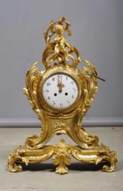 Imposante bronzen pendule-klok, Frankrijk, 19e eeuw.