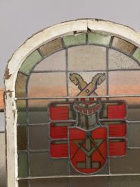 Glas-in-loodraam, de vrijmetselarij,  Mühlenbein Hannover, gedateerd 1937.