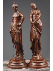 La Louette, bronzen beeldengroep, Frankrijk, 19e eeuw.