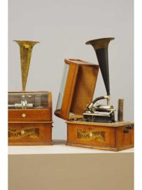 The Graphophone, Columbia Phonograph Co. New York & Paris,  World's Phonograph Rokin Amsterdam, met muntinworp.