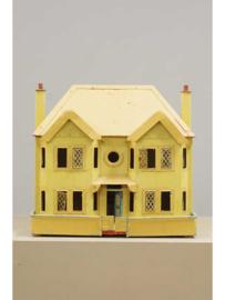 Blikken speelgoed,  groot poppenhuis, Duitsland, 1e helft 20e eeuw.