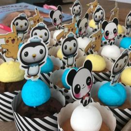 Cupcakeprikkers Pandabeer