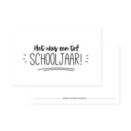Mini kaartje | Het was een tof schooljaar!
