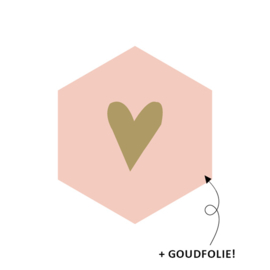 Sticker |  Hartje goud