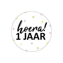 Sticker | Hoera! 1 jaar