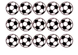 Traktatiestickers | Voetbal 20 stuks