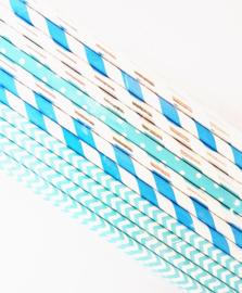 Papieren rietjes | Blauw