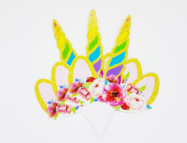 Cupcakeprikker | Unicorn groot