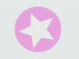 Sticker | Ster licht roze