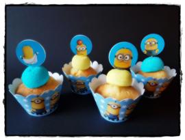 Cupcakewikkel | Minions blauw