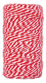 Bakkerstouw | Rood/wit