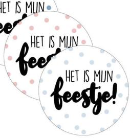Sticker | Het is mijn feestje