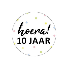 Sticker | Hoera! 10 jaar