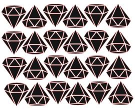 Traktatiestickers| Diamant 20 stuks