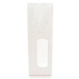 Blokbodemzakje | Kraft met venster wit