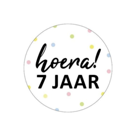 Sticker | Hoera! 7 jaar