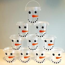 Traktatie emmertje | Sneeuwpop