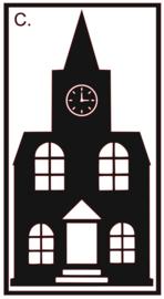 Raamsticker | Kerk C.