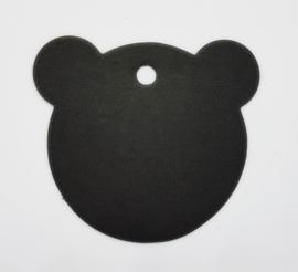 Beren label | Zwart