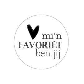 Sticker | Mijn favoriet ben jij!